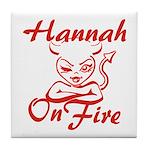 Hannah On Fire Tile Coaster