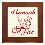 Hannah On Fire Framed Tile
