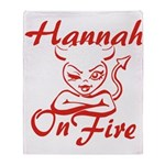 Hannah On Fire Throw Blanket