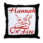 Hannah On Fire Throw Pillow