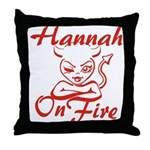 Hannah On Fire Throw Pillow