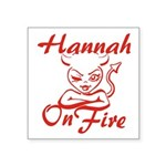 Hannah On Fire Square Sticker 3