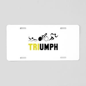 Tri Triumph Aluminum License Plate