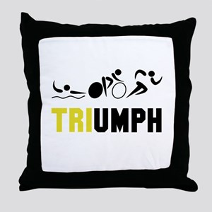Tri Triumph Throw Pillow