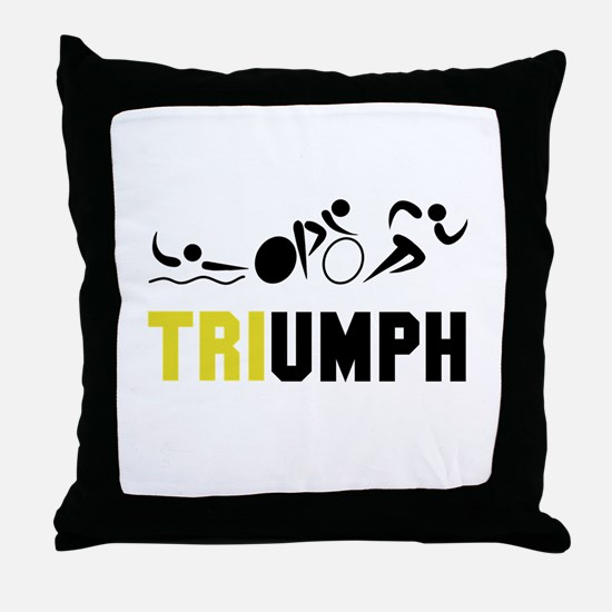 Tri Triumph Throw Pillow