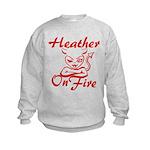 Heather On Fire Kids Sweatshirt