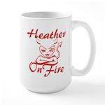 Heather On Fire Large Mug