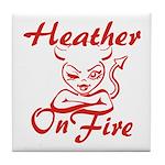 Heather On Fire Tile Coaster