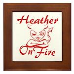 Heather On Fire Framed Tile