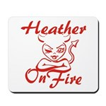 Heather On Fire Mousepad