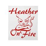 Heather On Fire Throw Blanket