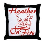 Heather On Fire Throw Pillow