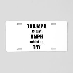 Try Triumph Aluminum License Plate