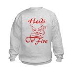 Heidi On Fire Kids Sweatshirt