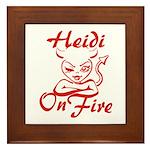 Heidi On Fire Framed Tile