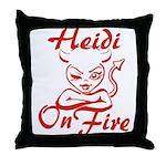 Heidi On Fire Throw Pillow