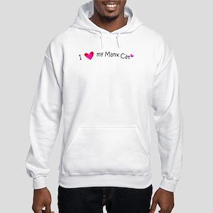 I Love My Manx Cat - more breeds Hooded Sweatshirt