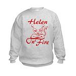 Helen On Fire Kids Sweatshirt