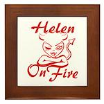 Helen On Fire Framed Tile