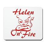 Helen On Fire Mousepad