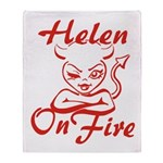 Helen On Fire Throw Blanket