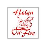 Helen On Fire Square Sticker 3