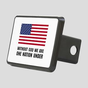 One Nation Under God Rectangular Hitch Cover