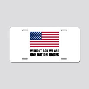 One Nation Under God Aluminum License Plate