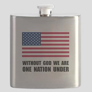 One Nation Under God Flask