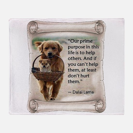 Dalai Lama Dogs ~2000x2000.png Throw Blanket
