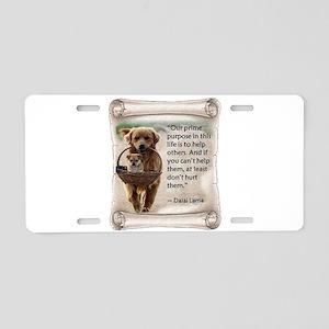 Dalai Lama Dogs ~2000x2000 Aluminum License Pl
