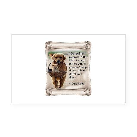 Dalai Lama Dogs ~950x950 Rectangle Car Magnet