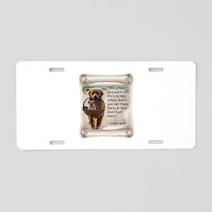Dalai Lama Dogs ~950x950 Aluminum License Plat