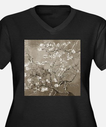 Almond Branches In Bloom (Sepia) Women's Plus Size