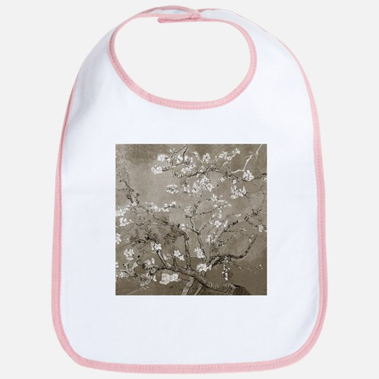 Almond Branches In Bloom (Sepia) Bib