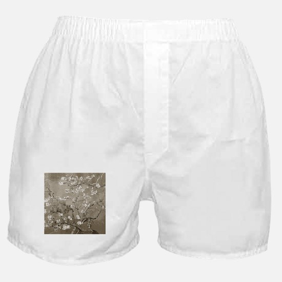 Almond Branches In Bloom (Sepia) Boxer Shorts