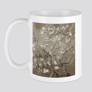 Almond Branches In Bloom (Sepia) Mug