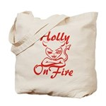 Holly On Fire Tote Bag