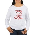 Holly On Fire Women's Long Sleeve T-Shirt
