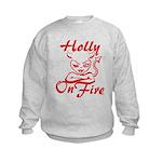 Holly On Fire Kids Sweatshirt