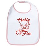 Holly On Fire Bib