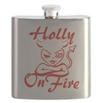Holly On Fire Flask