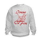 Irene On Fire Kids Sweatshirt
