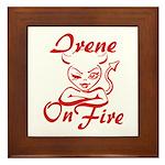 Irene On Fire Framed Tile