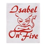 Isabel On Fire Throw Blanket