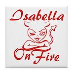 Isabella On Fire Tile Coaster
