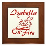 Isabella On Fire Framed Tile