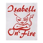 Isabella On Fire Throw Blanket