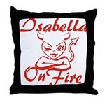 Isabella On Fire Throw Pillow