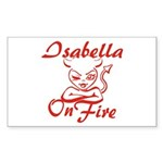 Isabella On Fire Sticker (Rectangle)
